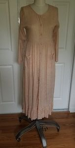 FINAL PRICE - Vtg Peach prairie dress